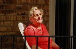 Senior optimist royalty free stock image