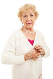 Senior with Painful Arthritis Symptoms Stock Image