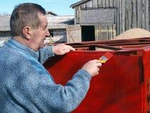 Senior painter Royalty Free Stock Image
