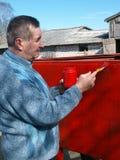 Senior painter 2 Royalty Free Stock Image