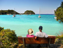 Senior para na wakacje Fotografia Royalty Free