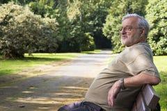 Senior in park royalty free stock image