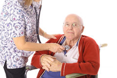 Senior patient Stock Image