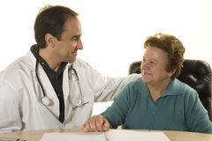 Senior patient at doctor's consultation Royalty Free Stock Photography
