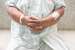 Senior patient's hands Royalty Free Stock Image