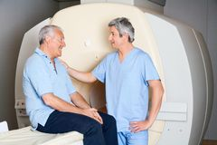 Senior Patient With Technician Royalty Free Stock Images