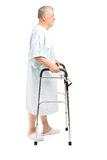 Senior patient using a walker Stock Photos