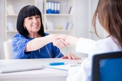 The senior patient visiting doctor for regular check-up Royalty Free Stock Photo