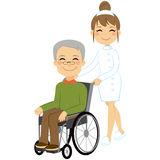 Senior Patient Wheelchair Royalty Free Stock Image