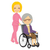 Senior Patient Woman Wheelchair Royalty Free Stock Photo