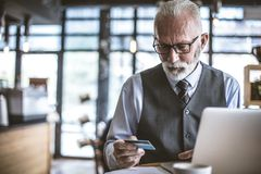Senior people also using technology. royalty free stock photo