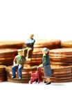 Senior people coins A Stock Photo