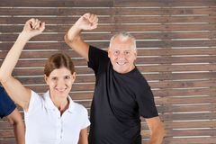 Senior people in dancing class Stock Photos