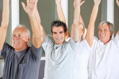 Senior people doing gymnastics Royalty Free Stock Photography