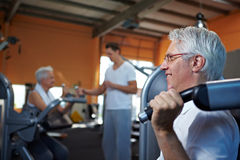 Senior people in gym Royalty Free Stock Photo