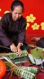 Senior people make traditional cake Royalty Free Stock Photo