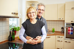 Senior people in new kitchen Stock Photography