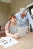 Senior people and new technologies Stock Photography