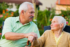 Senior People in Nursing Home Royalty Free Stock Photography