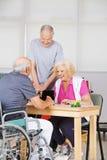 Senior people during rehab playing Bingo Royalty Free Stock Photography
