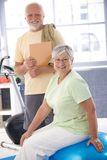 Senior people smiling in the gym Stock Images