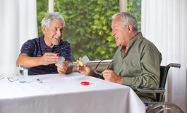 Senior people taking medication Royalty Free Stock Photo