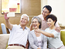 Senior people taking selfie Stock Photos