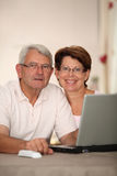 Senior people and technology Royalty Free Stock Photos