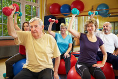 Senior people working out Stock Images