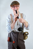 silent movie performer Stock Image