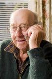 Senior and phone Royalty Free Stock Photo