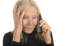 Senior with phone Royalty Free Stock Image