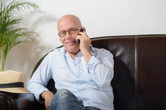 A senior phone Stock Photography