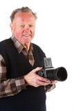 Senior photographer Stock Image
