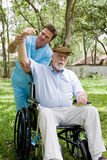 Senior Physical Therapy Session Stock Image