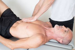 Senior physiotherapy Stock Image