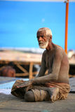 A senior pilgrim, Vanarasi,india Stock Photography