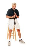 Senior Playing Clarinet Stock Image