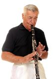Senior Playing Clarinet Stock Images