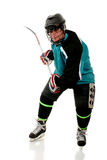 Senior Playing Ice Hockey Stock Images