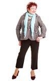 Senior plus size fashion model Stock Photos