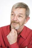 Senior portrait 3. Thinking royalty free stock photo
