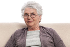 Senior portrait disappointed person Royalty Free Stock Photo