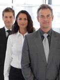 Senior positive Business team looking at camera. 1 royalty free stock photo