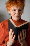 Senior in prayer Royalty Free Stock Image