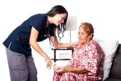 Senior prescription medication teaching Stock Photography