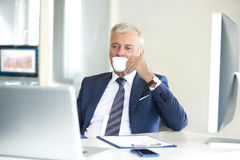 Senior professional man in the office Stock Photo