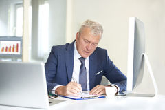 Senior professional man in the office Royalty Free Stock Image