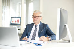 Senior professional man in the office Stock Images