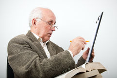 Senior professor Stock Photo